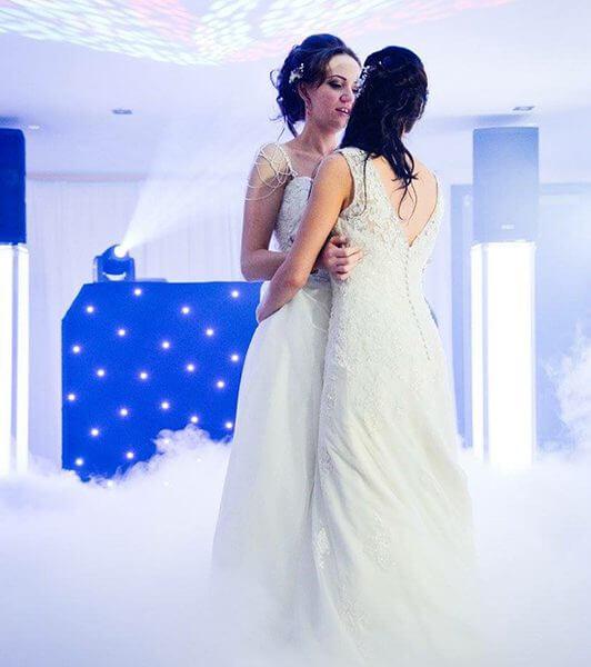 Dry ice first dance wedding Bristol
