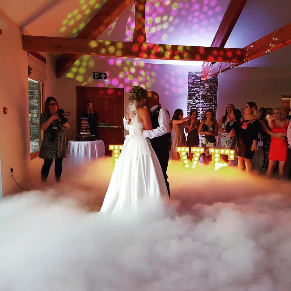Wedding dry ice hire Somerset