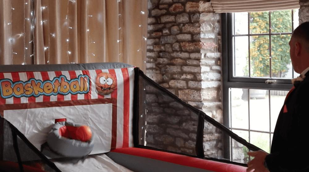 Inflatable basketball wedding game hire Somerset