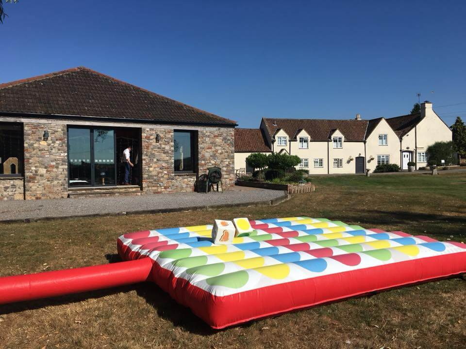 Giant inflatable Twister game hire for weddings Somerset