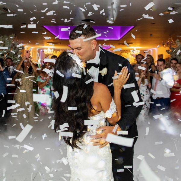 Dry ice first dance wedding Somerset