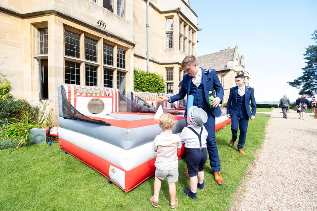 Coombe Lodge Giant Inflatable Baseball garden game hire