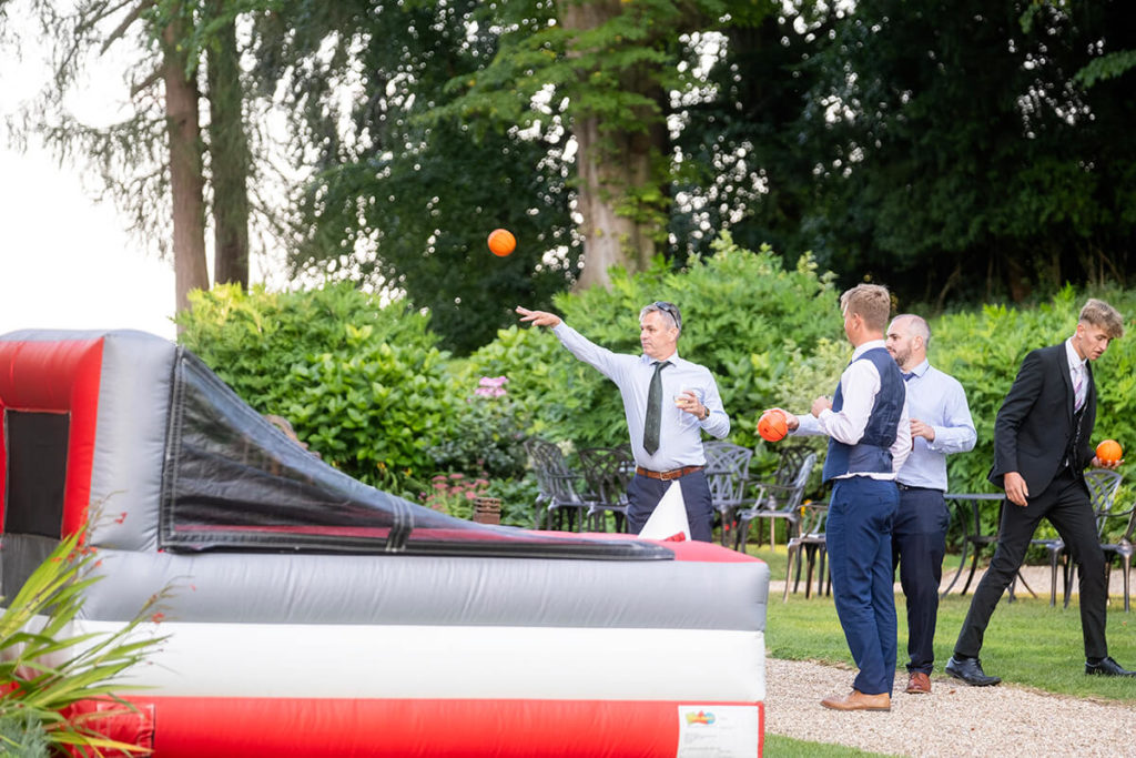 Coombe Lodge Giant Inflatable Basketball garden game hire Bristol