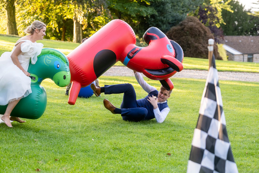 Coombe Lodge Giant Inflatable Horse garden games hire
