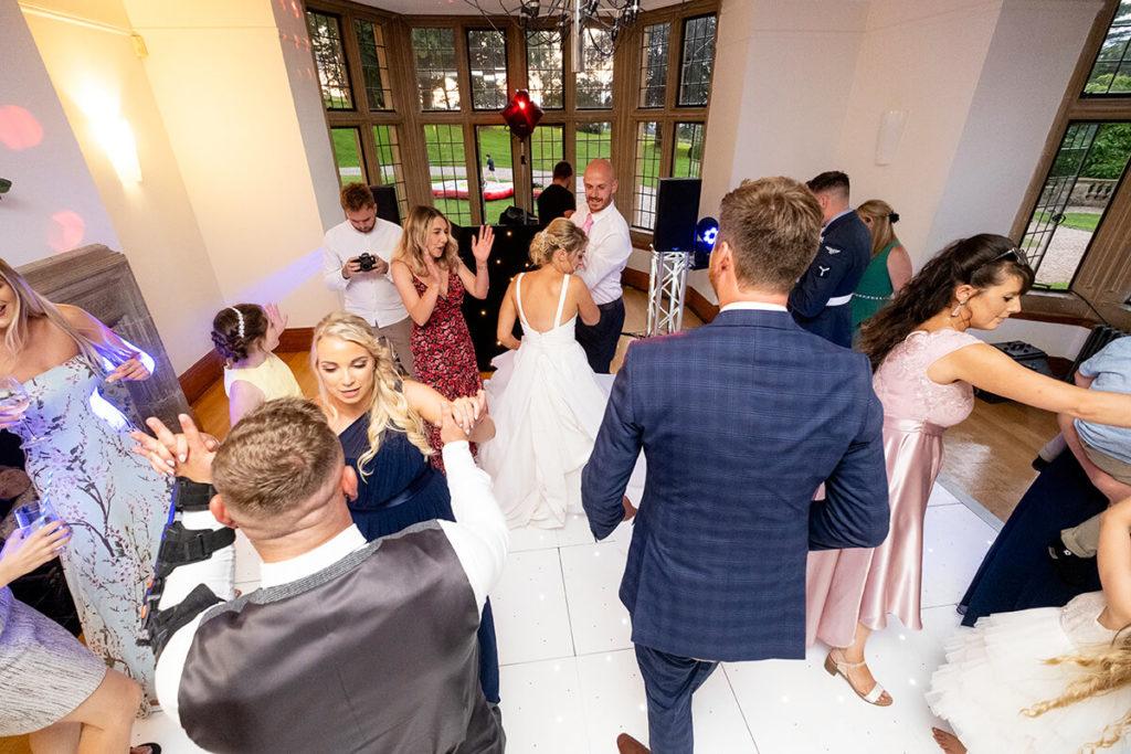 Coombe Lodge Kieran Clarke Entertainment LED dance floor DJ Twister hire wedding