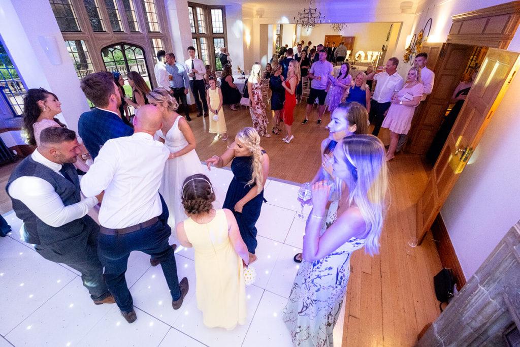 Coombe Lodge Kieran Clarke Entertainment LED dance floor LOVE letter hire wedding