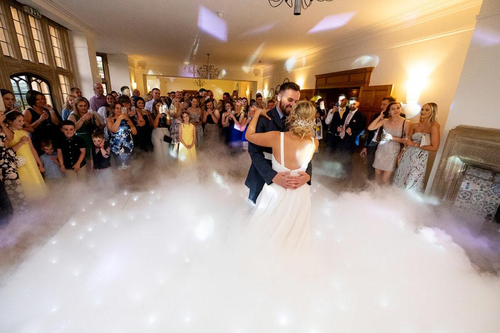Coombe Lodge Kieran Clarke Entertainment dry ice LED dance floor