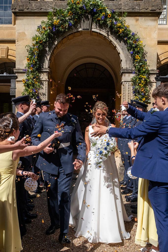 Coombe Lodge wedding Bristol North Somerset confetti
